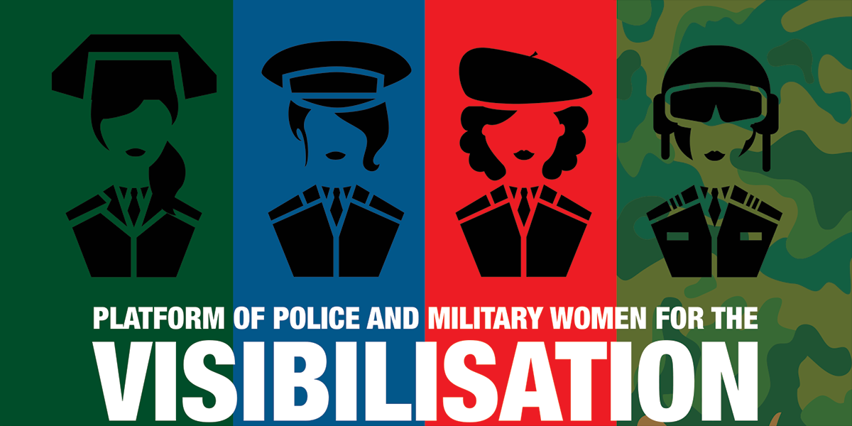 Platform of police and military women for the visibilisation