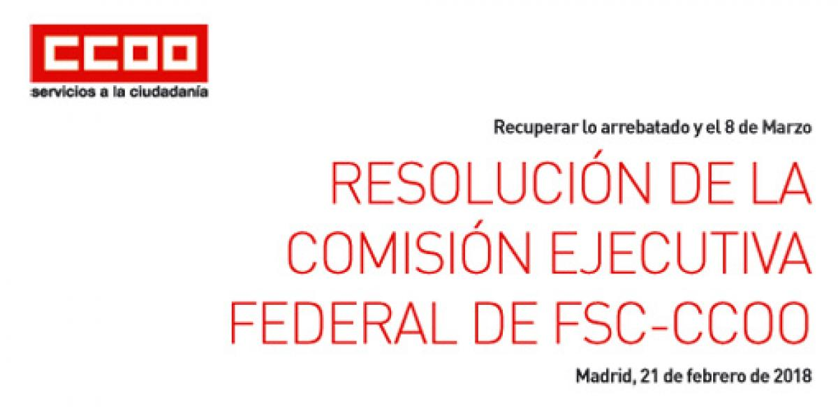 Resolución FSC-CCOO